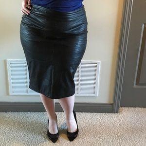 Torrid faux leather pencil skirt by Rebel Wilson